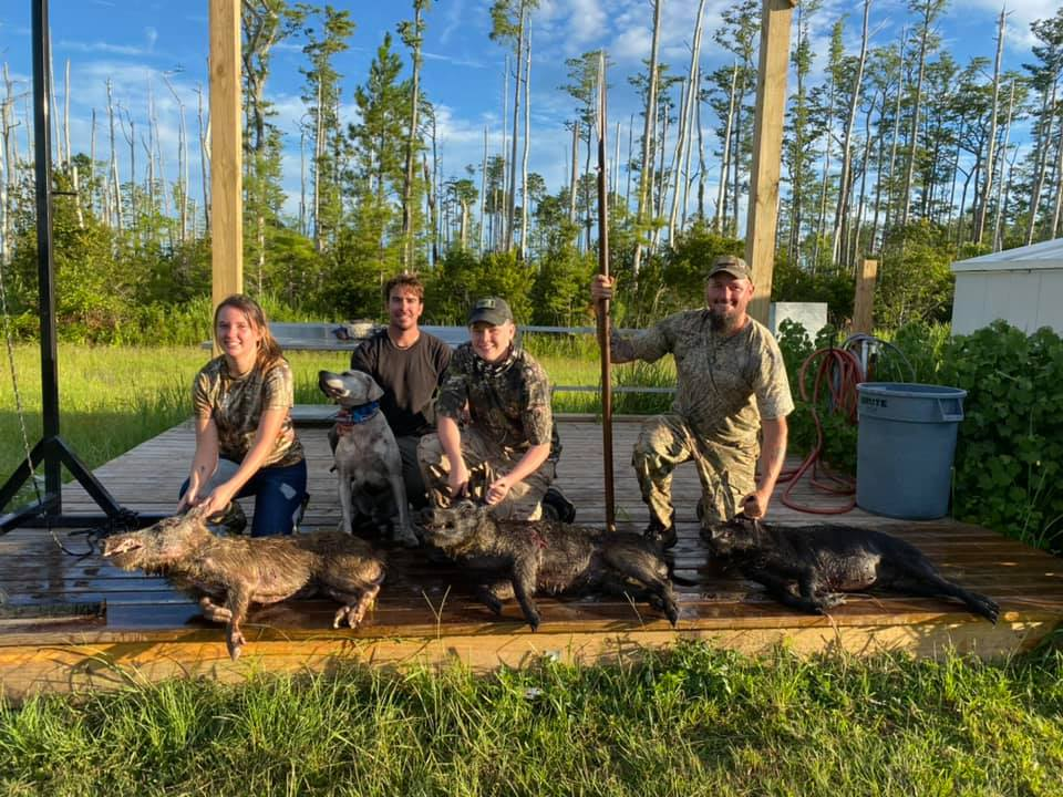 Great day getting this family on some nice hogs.