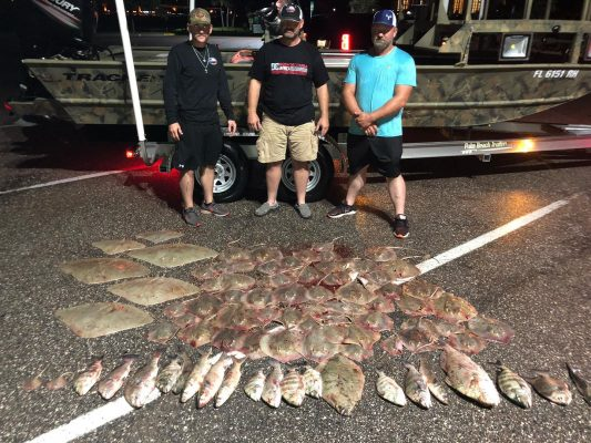 This group from Texas put 101 in the bucket last night. The Bowfishing is hot! C