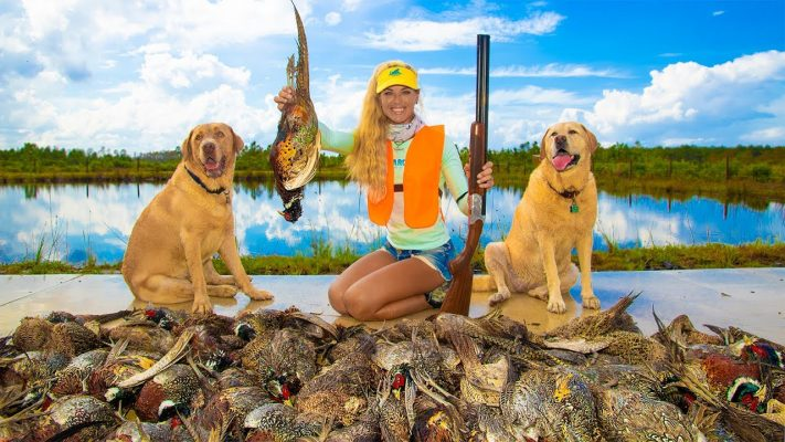 250 PHEASANT Hunt Tower Shoot! Catch Clean Cook! (Florida Hunting Video)