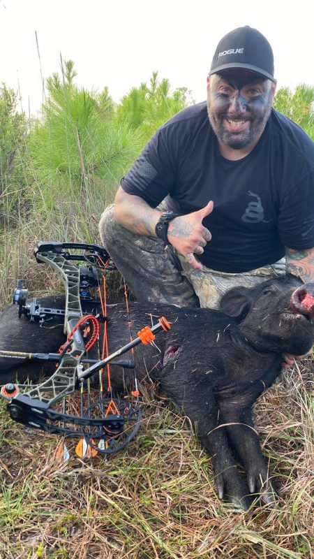 Jesse back in action for another hog.  That's three hogs wit...