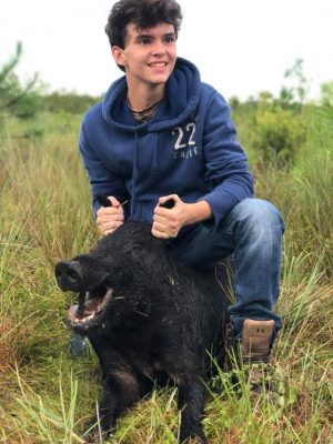 Congrats to these boys on their first hog! Call the office t...