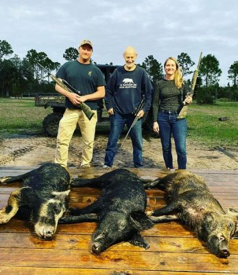 Awesome hog hunt with this family from CA.