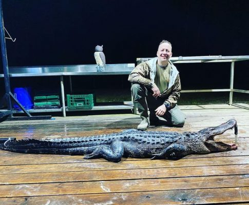 Nice Gator taken by a hunter from Nebraska yesterday late af...