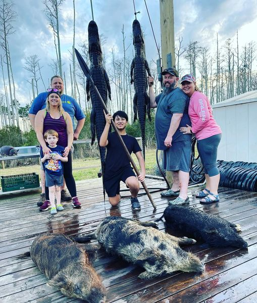 These families from Montana got the full Florida experience....