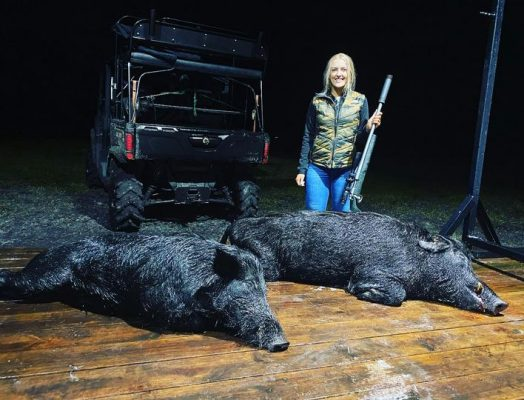 Jordan took two fantastic hogs this evening on her first eve...