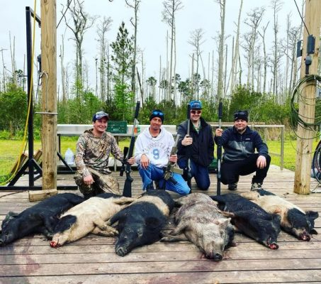 This group from Indiana had a blast shooting hogs this after...