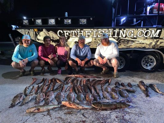 Fun freshwater trip with this group from KY. Close to 70 in ...